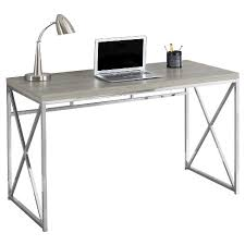 Chrome Metal puter Desk Dark Taupe EveryRoom Tar