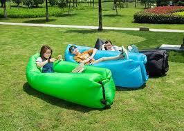 canapé lit gonflable air en du tissu 200kg remplissant canapé lit gonflable de sofa