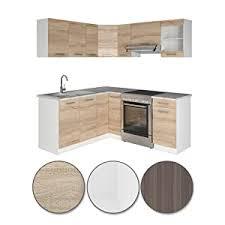 vicco küche rick l form küchenzeile küchenblock einbauküche 167x187cm sonoma kombinierbare möbel module