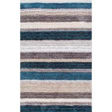 Shag 9 X 12 Blue Area Rugs Rugs The Home Depot