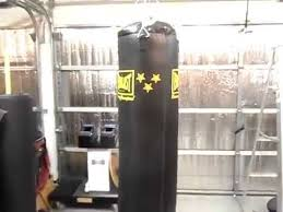 how to hang a heavy boxing punching bag from the ceiling rafters