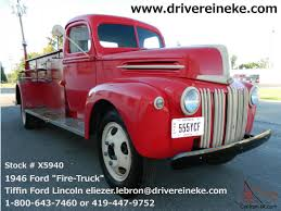 100 Ford Fire Truck 1946 Red Manual Transmission