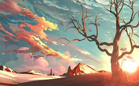 Sunset Beautiful Painting Laptop Full HD 1080P