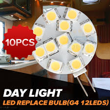 10 led 12v g4 replacement bulb rv car boat marine interior cabinet