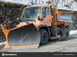 100 Snow Plows For Small Trucks Small Orange Truck Using Snow Plow Stock Photo Philipimage