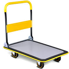 Shop Costway 660lbs Folding Platform Cart Dolly Push Hand Truck ...