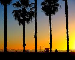 Sunset In Santa Monica California Beach Sand Sun Ocean