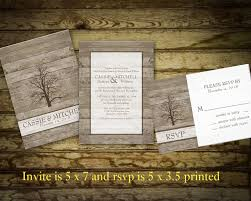 Rustic Winter Oak Tree Wedding Invitations