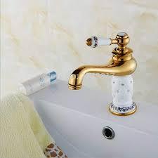 antike klassischen luxus badezimmer kristall diamanten waschtischmischer goldene kalten und warmen eitelkeit waschbecken armaturen weiß wasserhähne