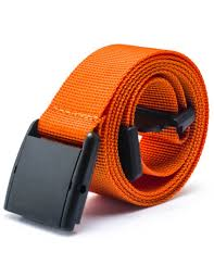 mens fashion nylon plastic buckle solid colorful casual waist web belt