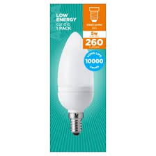 asda small edison candle 5 watt cfl light bulb asda groceries