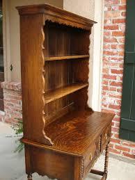 Vintage Tiger Oak Dresser by Antique English Tiger Oak Welsh Dresser Hutch Sideboard Buffet