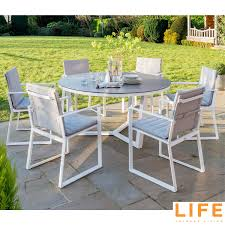 LIFE Outdoor Living Primavera 7 Piece Round Dining Set | Costco UK Costco Best Groceries Tools Thanksgiving Kitchn Set Of 4 Padded Folding Chairs In S66 Rotherham Restaurant Chairs Whosale Blue Ding Living Room Ymmv Timber Ridge Camp On Clearance Folding Card Table And Information Sco Lifetime 57 X 72 Wframe Pnic Broyhill Lenoir 5piece Counter Height Details About 5 And Black Game Party New Kids With Lime 6 Foot Adjustable Fold In Half 8 White Amateur Comparison Vs Walmart Mainstay