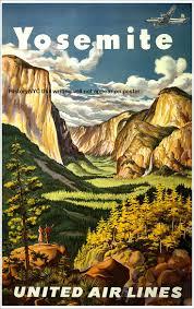 Vintage Travel Destination Art Poster Print Postcard O Yosemite