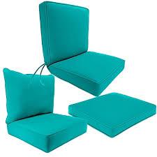 Outdoor Seat Cushion Collection in Sunbrella Canvas Aruba Bed