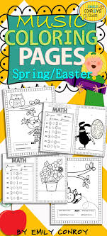 Music Coloring Pages Spring Easter