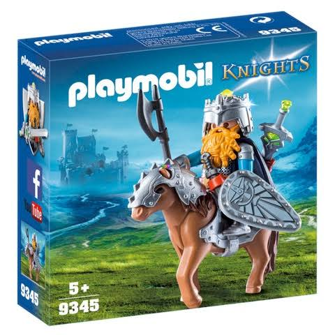 Playmobil Knights Dwarf Fighter with Pony Toy
