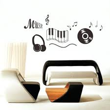 Diy Music Piano Headset Wall Stickers Removable Living Room Kids Bedroom Vinyl Decoration Decal Adesivo De