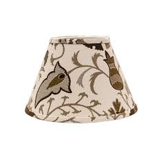 Threaded Uno Fitter Lamp Shade by Hampton Bay Mix U0026 Match Linen Oval Accent Lamp Shade 16296 The