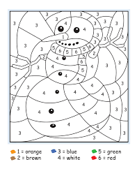 Winter Color Number Printables Numbers Halloween By For