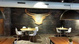 The Stone Panels Bronx A Cafeteria With Rustic Brick Wall Restaurant In