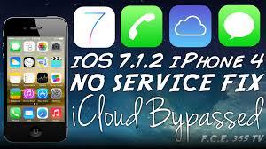 iOS 7 1 2 iPhone 4 GSM No Service Fix after Bypass September