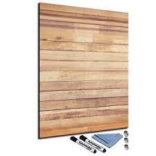 details zu glas magnettafel 60x80 pinnwand mit zubehör whiteboard küche holz optik braun