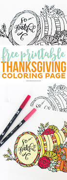 Download This Pretty Thanksgiving Coloring Page For Your Dinner Guests Its A Great