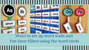 French Word Wall Ideas And Activities