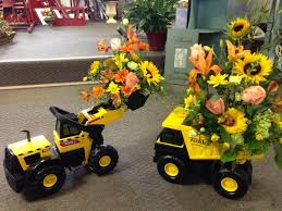 Toy Tonka Equipment With Fresh Arrangements Designed By Le Jardin