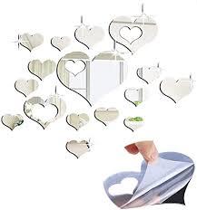 ziyero diy herzen wandspiegel herzen spiegel dekospiegel wandtattoos bilder spiegelfliesen selbstklebend herzen wandspiegel geeignet für die