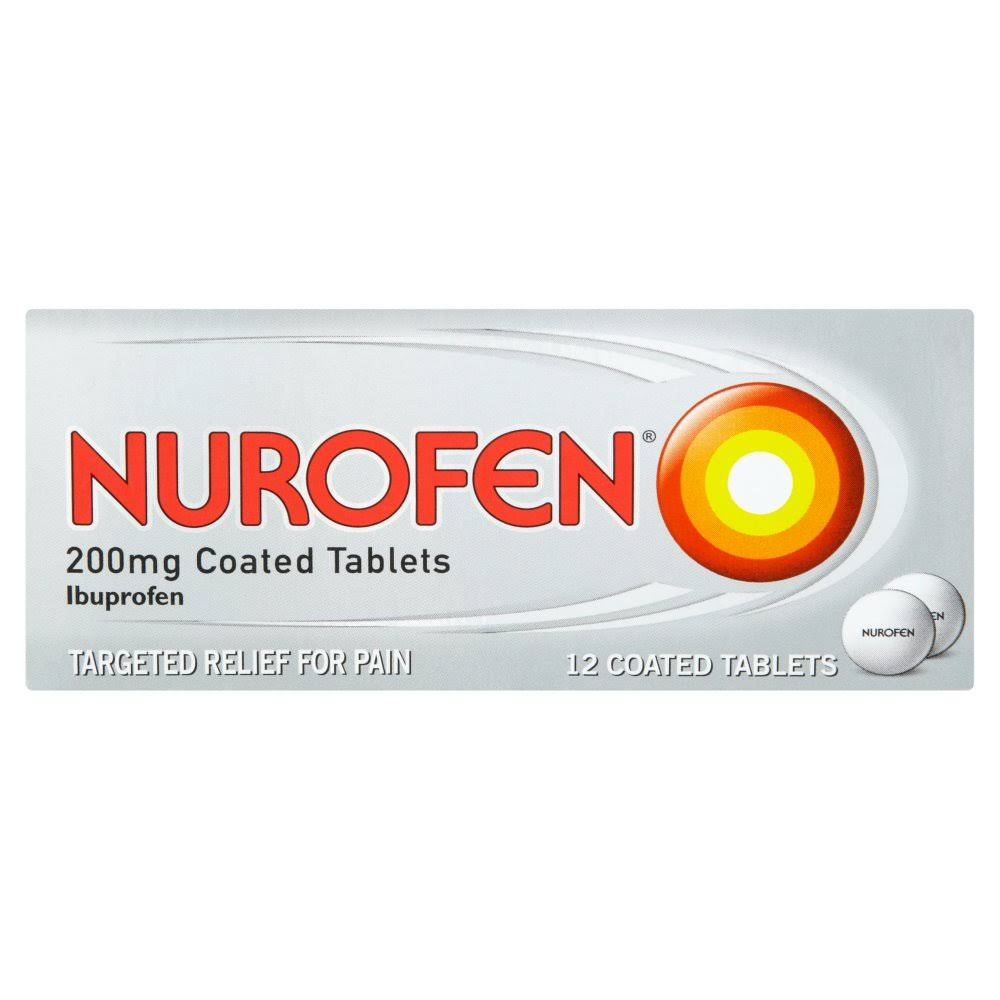 Nurofen Ibuprofen Pain Relief Tablets - 12 Coated Tablets