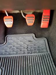 Fender Mustang Floor Manual by Mustang Gt500 Style Pedal Covers Manual Red 05 14 Gt V6