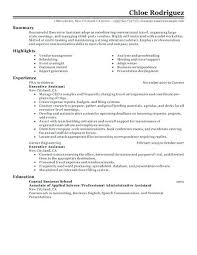 Resume Administrative Assistant Sample Executive Photography Gallery Sites Of For
