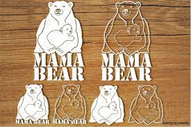 Mama Bear 2 SVG Files For Silhouette Cameo And Cricut Clipart