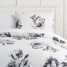 The Emily & Meritt Bed of Roses Duvet Cover Sham Black & White