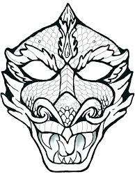 Coloring Pages Masks H6948 Sheets Mask Page Of Dragon