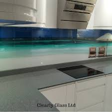 Printed Beach Scene Glass Splashback Barnstaple Devon