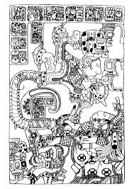 High Quality Free Art And Culture Mayan Coloring Books Printable For Kids