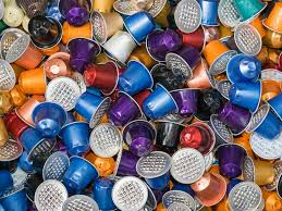 A Huge Pile Of Used Disposable Nestle Nespresso Coffee Capsules In Various Colors On Garbage Heap Switzerland The Popular Are Collected After
