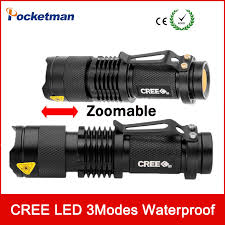 2017 mini led torche 7 w 2000lm cree q5 led flashlight mise au