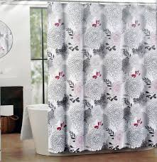 Tommy Hilfiger Curtains Special Chevron by Amazon Com Luxehabitat Nina Fabric Shower Curtain Black Gray