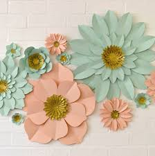 Handmade Glitter Centre Paper Flower Wall Display