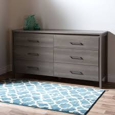 South Shore Step One Dresser Grey Oak south shore gravity 6 drawer double dresser multiple finishes
