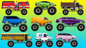 Learn Colors With Street Vehicles For Children Monster Trucks On ... Video Monster Vehicles Truck Car More The Carl The Super And Hulk In City Cars Fire Team Vs Youtube Kids Top 17 Trucks I Want To See At Monster Jam Tacoma 2015 Scary For Halloween Special Kids Haunted House Garage Race Episodes 1 11 Batman And Deadpool Surprise Egg Vs Wolverin Trucks For Children Red Easy On Eye Grave Digger Toys Feature Year Old Baby Driving Truck