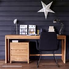 bureau teck massif bureau bois massif et vente bureaux teck design tikamoon
