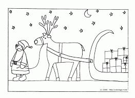 Coloriage Le P Re Noël Et Son Traineau Avec Pere Noel Et Son à