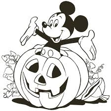 Pluto Pumpkin Black Cat Disney Halloween Coloring Pages Free Online