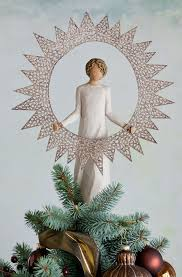 Black Angel Christmas Tree Topper by Tree Toppers Holiday Tree Toppers Willow Tree