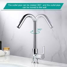 360 drehbar kaltwasser wasserhahn küchenarmatur einzelne wasserhahn kaltwasser armatur für spüle küche mit einem schlauch spültischarmatur chrom